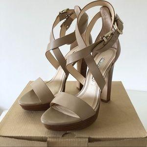 Zara High Heel Platform Strappy Sandals